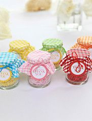 Lovely Glass Candy Jars With Plaid - Set of 12 ... – AUD $ 14.29