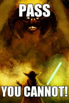 Yoda vs Balrog. Lord of The Rings and Star Wars. T