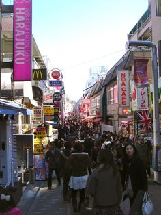 Takeshita Street in Harajuku. One of the craziest places I've been to, but really cool and I had the BEST crepe there...