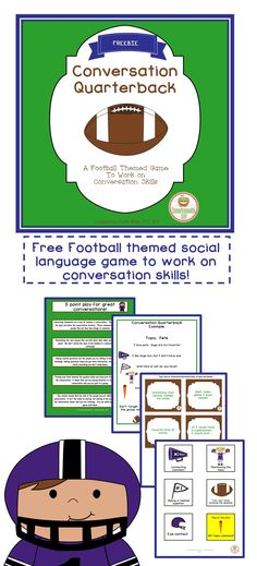 A fun football themed game freebie to work on conversation skills for elementary students. You'll go pro in no time!