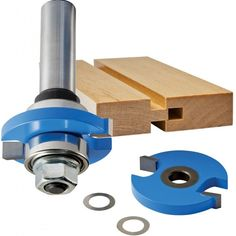 Includes one arbor, two 22mm bearings, and two cutters. Make a Groove bit (shown) or a Tongue bit by attaching the second cutter. #rocklerwishlist #routerbits #bits