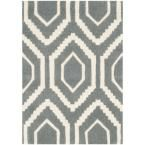 Chatham Dark Grey/Ivory 2 ft. x 3 ft. Area Rug, Dark Gray/Ivory
