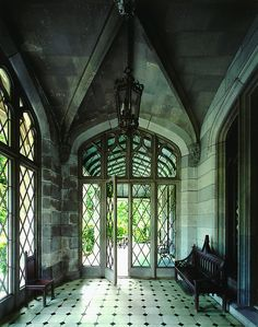 Stone, marble, metal = spectacular foyer!  :-)