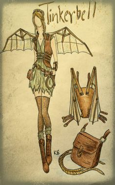 Steampunk Tinkerbell. I can't get over how cool this is!