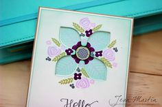 handmade greeting card ... CASE Study Challenge 137 ... negative space ... love the soft colors of the focal medallion with bits of black ... lovely card