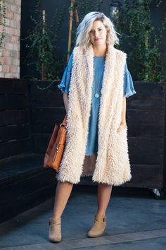 Ainsley Fur Duster Vest