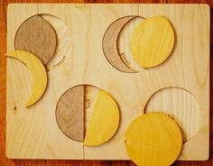 Wooden Moon Phases Puzzle by justhatched on Etsy