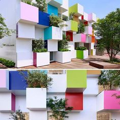 This could be the coolest bank branch ever existed! Amazing... [Sugamo Shinkin Bank / Nakaaoki Branch] via Plenty of Colour