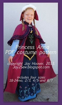 Just Released Princess Elsa Ice Dress and Coronation Dress + Cape Patterns can be purchased in my Craftsy Shop and my. Anna Costume, Frozen Costume, Costume Dress, Costume Patterns, Dress Patterns, Sewing Patterns, Princess Costumes, Princess Dresses, Costume Craze