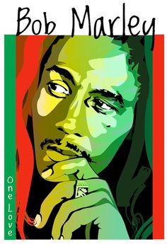 Bob Marley One Love Tshirt Original Artwork Murderwear