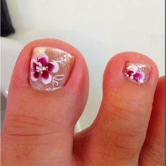 Folk Nail Art on toenails Williams Williams (pdw) Snova Flower Toenail Designs, Toe Nail Designs, Nails Design, Cute Toes, Pretty Toes, Toe Nail Art, Toe Nails, Painted Toes, Crazy Nails