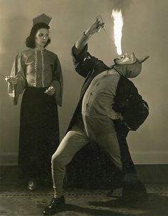 Roy thought it would be romantic to show off his fire eating skills but Sue was not impressed.