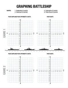 BATTLESHIP ACTIVITY - GRAPHING ON A COORDINATE PLANE - TeachersPayTeachers.com