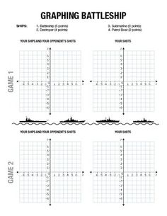 BATTLESHIP ACTIVITY - GRAPHING ON A COORDINATE PLANE - TeachersPayTeachers.com