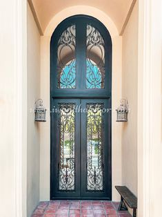 Choose from our selection of iron doors and bring a new level of elegance to your home! 💡 About this design: Custom Iron Door ☎️️ 877-205-9418 🌐 www.iwantthatdoor.com