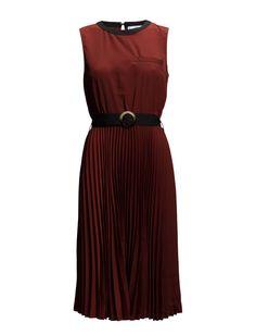 - Mango Belt Pleated Dress
