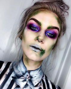 10 Stunning Makeup Ideas for Halloween Costume Halloween, Halloween Inspo, Halloween Tags, Halloween Makeup Looks, Halloween Outfits, Halloween 2019, Beetlejuice Makeup, Beetlejuice Halloween, Gothic Makeup