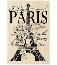 "Stampendous Mounted Rubber Stamp 3""X4-1/2""-I Love Paris"