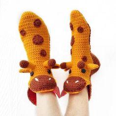 Booties Crochet, Crochet Slippers, Baby Booties, Knit Crochet, Funny Slippers, Funny Socks, Christmas Animals, Crochet Designs, Crochet Clothes