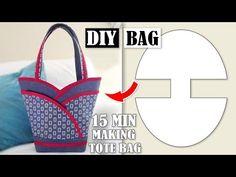 Handbag tutorial - Tote Bag In 10 Min Sewing Easy Step by Step – Handbag tutorial Handbag Tutorial, Diy Handbag, Givenchy, Gucci, Valentino, Sewing Hacks, Sewing Tutorials, Sewing Tips, Bag Tutorials
