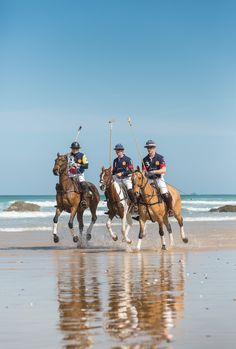 Polo on the Beach 2013 at Watergate Bay, Cornwall