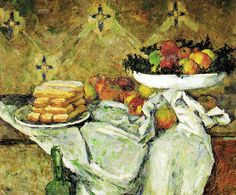 Paul Cézanne - Fruit and Plate with Biscuits at Kreeger Art Museum Washington DC by mbell1975, via Flickr