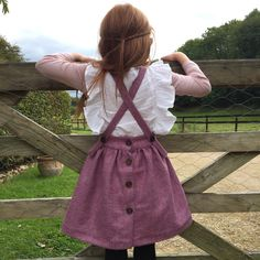 Girls pinafore  Introducing 'Beatrix' our handmade British tweed pinafore. Naive splendour for graceful little ones