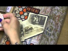 Altering Tim Holtz Large Folio, Cont. with the Cover, Part 8 - YouTube