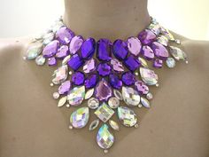 Stunning Bright Purple and Clear AB by SparkleBeastDesign on Etsy, $44.99