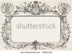 Second Empire Framed Decoration. Created By Reiber, Published On L'Illustration, Journal Universel, Paris, 1858 - 89252149 : Shutterstock