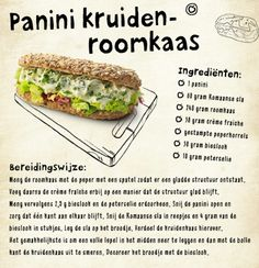 Recept panini roomkaas van La Place