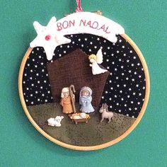 trendy ideas for embroidery art ideas felt Nativity Ornaments, Christmas Nativity Scene, Nativity Crafts, Felt Ornaments, Christmas Projects, Christmas Crafts, Christmas Decorations, Christmas Ornaments, Christmas Sewing