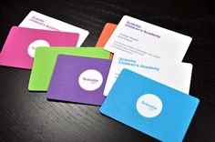 colorful business card multi color