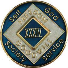 Doing It Sober - NA TURQUOISE BLUE ENAMEL RECOVERY MEDALLION, $32.95 (http://www.doingitsober.com/na-turquoise-blue-enamel-recovery-medallion/)