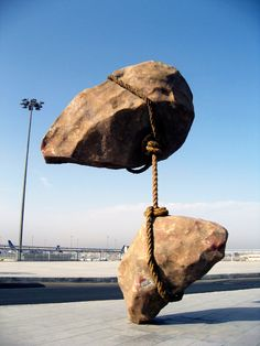 Shaaban Mohamed Abbas' most famous sculpture placed at Cairo International Airport.