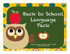 Back to School Language Pack! Following Directions, WH Q's, Verb Tenses, and Short Stories! [Word of Mouth]