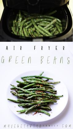 Air Fryer Green Beans By myvegetarianfamil. Green beans with very little oil, . - Air Fryer Green Beans By myvegetarianfamil… Green beans with very little oil, done in 8 minutes, - Air Fryer Recipes Potatoes, Air Fryer Oven Recipes, Air Fryer Recipes Vegetables, Air Fryer Recipes Gluten Free, Avocado Toast, Sauce Pizza, Air Frier Recipes, Air Fryer Healthy, Green Bean Recipes
