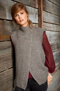 Lana Grossa Knitting Pattern - Model Package VEST Alta Moda Alpaca (Design FILATI No. 52 (fall/winter - Knitting instructions (EN)) - - order now online Knit Vest Pattern, Knitting Patterns, Romper Pattern, Stylish Waistcoats, Trendy Outfits, Cute Outfits, Teenager Outfits, Pulls, Street Style Women