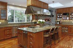 Chef kitchen via Houzz by Santa Rosa Interior Designers & Decorators David Phillips