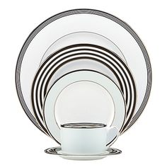 Dress up your dining area with Parker Place's dynamic patterning that is balanced to perfection. This beautiful collection of bone china is the perfect addition to any table setting.