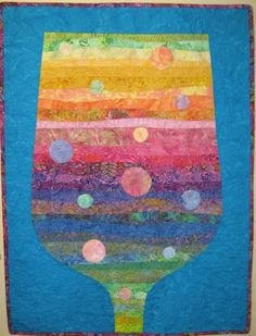 A Champagne Life Art Quilt by JaneHicksQuilts on Etsy, $300.00