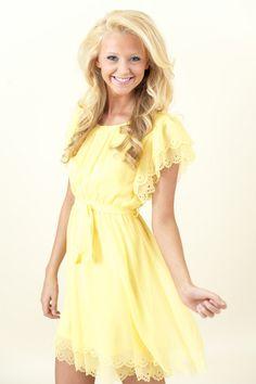 Sunny Side Up Dress-Lemon - Dresses | The Red Dress Boutique