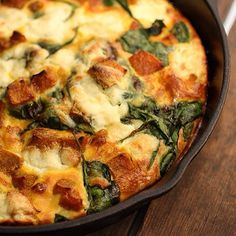 Frittata with pumpkin, spinach and ricotta