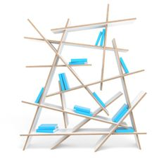 Interesting bookshelf....can be used as a room divider.
