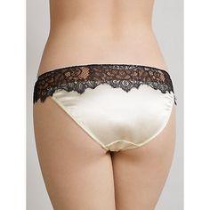 Buy Somerset by Alice Temperley Vintage Lace Briefs, Cream / Black Online at johnlewis.com