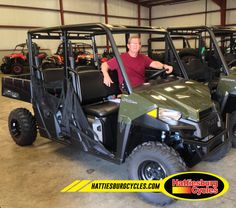 Thanks to William Pierce from Petal MS for getting a 2017 Polaris Ranger 570 Crew. @HattiesburgCycles