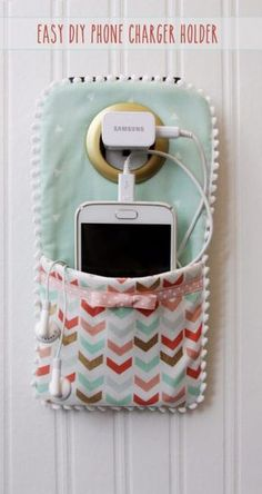 Best Sewing Projects to Make For Girls - Easy DIY Phone Charger Holder - Creative Sewing Tutorials for Baby Kids and Teens - Free Patterns and Step by Step Tutorials for Dresses, Blouses, Shirts, Pants, Hats and Bags - Easy DIY Projects and Quick Crafts Ideas http://diyjoy.com/cute-sewing-projects-for-girls