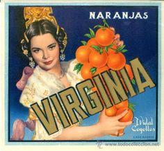 VIRGINIA. Orange label. Carcagente, Valencia (Spain).