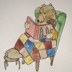 Boy and Bear - tell me a story - a watercolor story 2016 by Janina Sperling
