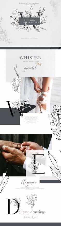 Soft Floral Letters & Illustrations by Laras Wonderland on @creativemarket #AD